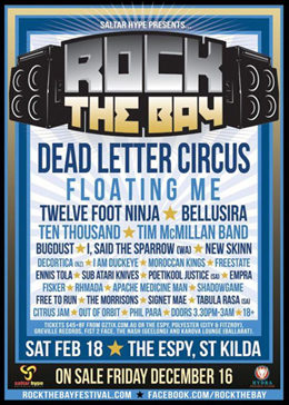 Sponsor - Rock The Bay Festival 2012