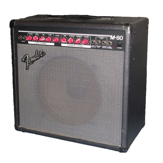 Fender M-80, 90w guitar amp ($10/session)